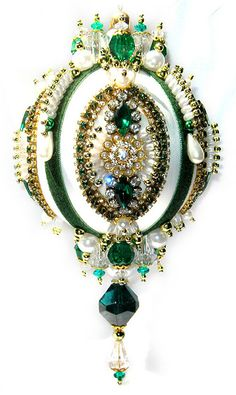 Dazzling Christmas Ornament Emerald/Crystal/Pearl by sparklements