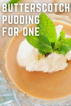 Homemade Butterscotch Pudding For One - rich, creamy and wonderfully indulgent! This nostalgic single serving butterscotch pudding is so easy to make and serves up the perfect amount for anyone cooking for one. Cooking For One, Meals For One, Pudding Recipes, Pie Recipes, Slushie Recipe, Butterscotch Pudding, Single Serving Recipes, Summer Dessert Recipes, Creamed Eggs