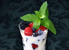 Summer Berries With Lemon Creme Fraiche
