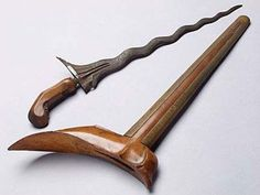 Terapang a traditonal weapons from Lampung, Indonesia