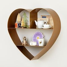 Heart of Gold wall shelf, a charming accent to any room.