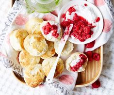 A fresh take on an old favourite. These scones are vegan and delicious served with fresh raspberries.