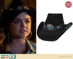 Aria's cowboy hat on Pretty Little Liars. Outfit Details: http://wornontv.net/18428
