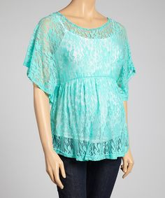 $20Look no further for bump-beautifying style. This lace top's stretchy spandex and airy angel sleeves make it easier for Mom to move around, and its empire waist accommodates growing bellies.