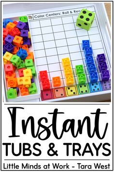 Searching for fun, engaging centers to use in your classroom all year long? These instant tubs and trays are skill-based centers that you can quickly grab to match your students' abilities. Click the pin to learn more about these low prep centers for every skill level!