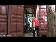 Shipping container family home: building blocks in Redwoods - YouTube