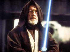 Obi-Wan Kenobi (Star Wars: A New Hope/Empire Strikes Back/Return Of The Jedi) Played by Alec Guinness Jedi Lightsaber, Film Star Wars, Alec Guinness, Photo Print, War Film, Episode Iv, Jedi Knight, Movie Lines, A New Hope
