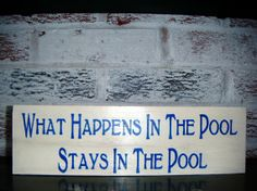 By the pool sign