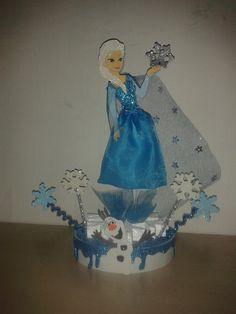 Decoracion sencilla Elsa y Olaf...