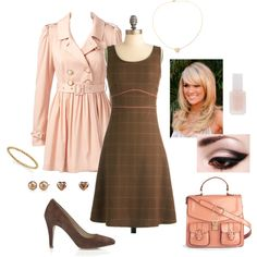 Pink and Brown, created by lindsycarranza.polyvore.com