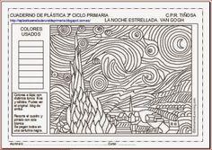 PLÁSTICA EN EL AULA RURAL DE PRIMARIA: LA NOCHE ESTRELLADA, DE VAN GOGH