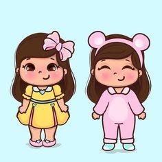 Cartoon Cartoon, Girl Cartoon Characters, Disney Characters, Arte Pop, Cute Little Girls, Simple Art, Planner Stickers, Cute Wallpapers, Coloring Books