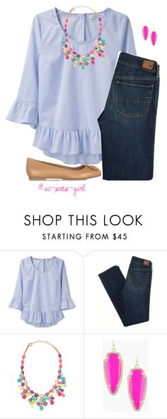 """On my Way to the PSAT"" by sc-prep-girl ❤ liked on Polyvore featuring Viktor & Rolf, American Eagle Outfitters, J.Crew, Kendra Scott and Tory Burch"