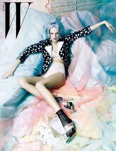 Vogue Korea - Cotton Candy Captures - Featuring models Anais Mali, Crystal Renn, Hanne Gaby Odiele, Hyoni Kang, Maryna Linchuk, Julia Nobis and Valerija Kelava, the photo shoot captures plenty of chromatic magic.