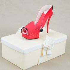 Wicked Red Fondant Stiletto Tutorial - Tutorial - Cake Central