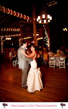 Barn Wedding. see all they did here is add some lights... (We need a floor in the barn!!!)