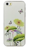 5S Lotus leaf butterfly Pattern Mobile Phone Case for Apple Iphone 5S Iphone5  Phone Cases Back Cover