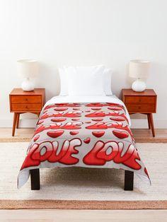 """Mehr als die Liebe"" Tagesdecke von Herogoal | Redbubble Comforters, Blanket, Bed, Shop, Furniture, Home Decor, Love, Creature Comforts, Quilts"