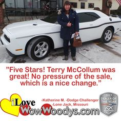 """Five Stars! Terry McCollum was great! No pressure of the sale which is a nice change.""  Katherine M.  Lone Jack, Missouri"