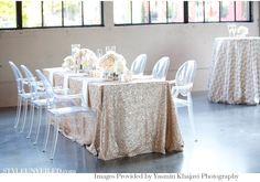 Modern Wedding Ideas Using Sparkles and Chevron