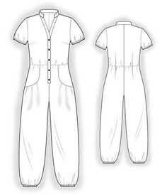 4044 PDF Personalized Jumpsuit Sewing Pattern Women by TipTopFit