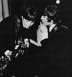 Paul McCartney and John Lennon Beatles Love, John Lennon Beatles, Beatles Photos, Sir Paul, John Paul, Ringo Starr, George Harrison, Great Bands, Cool Bands