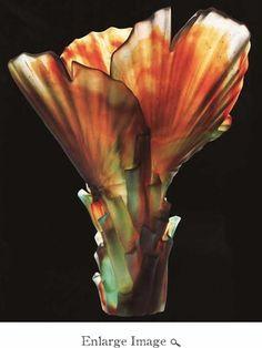 Daum Crystal Magnum Vase By E. Robba, Ltd - Daum