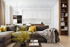 Стильный современный интерьер квартиры для семьи с двумя детьми создан дизайнером Ангелиной Алексеевой.