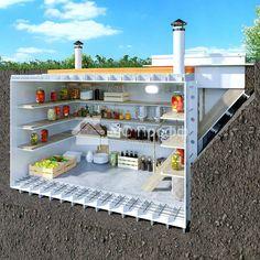 Underground Greenhouse, Underground Shelter, Underground Homes, Cool Restaurant Design, Dream Home Design, House Design, Heating A Greenhouse, Panic Rooms, Safe Room