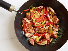Chicken, Pepper and Corn Stir-Fry Recipe : Food Network Kitchen : Food Network - FoodNetwork.com