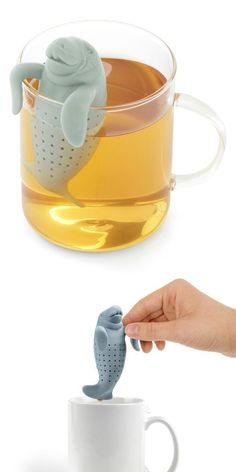 Manatea tea infuser // Get in my mug. Now. #product_design