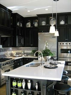 Would prefer a lighter color in cabinets, but love everything else, especially the tile.