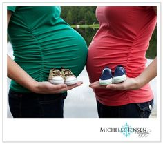 Maternity Photos-for Toni and I, baby girl and boy shoes!