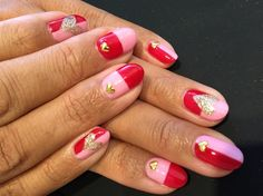 Pink and red by anelax - Nail Art Gallery nailartgallery.nailsmag.com by Nails Magazine www.nailsmag.com #nailart