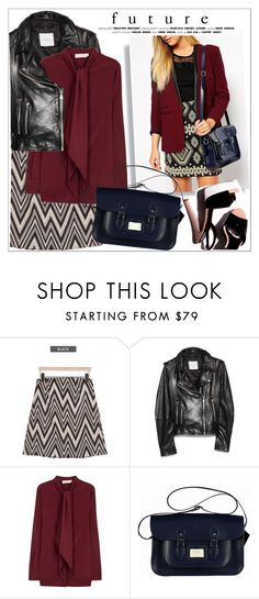 """""""Leathersatchel"""" by teoecar ❤ liked on Polyvore featuring MAGJAY, MANGO and Tory Burch"""