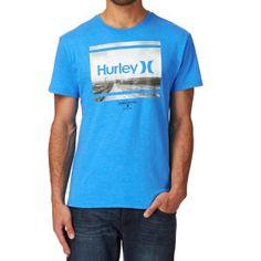Hurley T-shirts - Hurley Tempo Photo T-shirt - Photo Blue