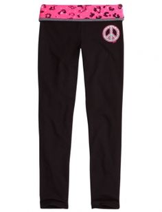 Justice Clothes for Girls Outlet | ... Waistband Yoga Pants | Girls Yoga Bottoms Clothes | Shop Justice