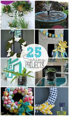 25 Spring Projects for Your Home!! -- Tatertots and Jello #DIY #Spring