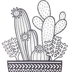 Desert Sunset Coloring Pages: Cactus at Deser | Where We Are in ...