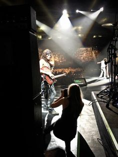 Joe Perry from behind the stage