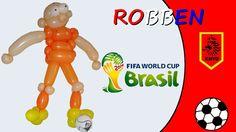127  Robben - Mondiali di Calcio Brasile 2014 - Palloncini Modellabili