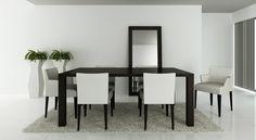 Mesa de jantar * Conjunto de cadeiras * Moldura espelho * Suporte vasos