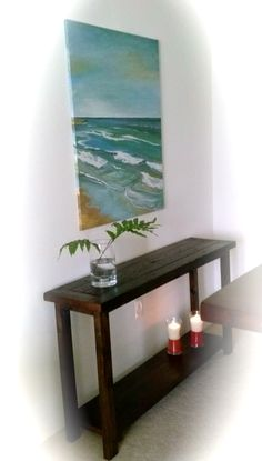 Reclaimed Console Table Console Table, Consoles, America, Projects, Console Tables, Log Projects, Console, Usa