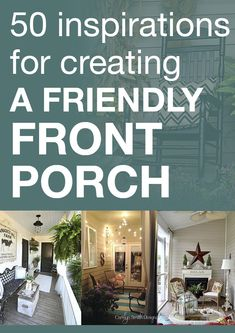 50 inspirations for creating a friendly front porch. Curb appeal, gardens, etc Outdoor Rooms, Outdoor Living, Outdoor Decor, Decks And Porches, Front Porches, Home Porch, Design Furniture, Porch Furniture, Outside Living