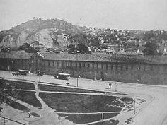 Quartel general e o Morro da Providência em 1900 (Foto: Anônimo)