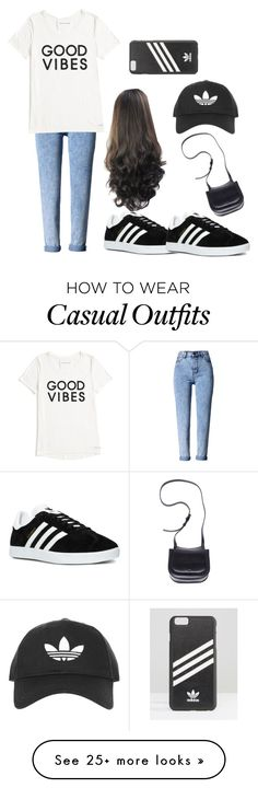 """""""Untitled #403"""" by luka1207 on Polyvore featuring WithChic, Tommy Hilfiger, adidas, Topshop and Ann Demeulemeester"""