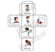Kids Yoga Dice Game by Kids Adventure Yoga Physical Activities For Kids, Physical Education Lessons, Science Experiments For Preschoolers, Outdoor Activities For Kids, Speech Therapy Activities, Games For Kids, Articulation Activities, Family Games, Kids Yoga Poses