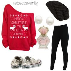 38 cute Christmas outfits for girls: Really cute Christmas outfit for teen girls