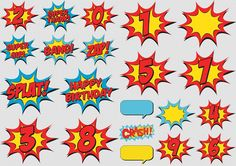 Signs and Numbers of the Wonder Woman Baby Clipart. | Oh My Fiesta ...