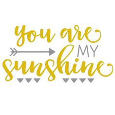 Silhouette Design Store - View Design #146759: you are my sunshine phrase